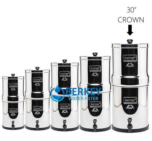 Crown Berkey Filters 6 Gallons Amp Free Borosilicate Glass