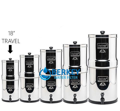 Travel Berkey Filters 1 5 Gallons Amp Free Borosilicate